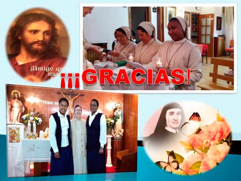 Noviciado de Catherine y envío con destino a África de M. Martha, Ingrid, Mery y Virginia  –  17-07-2017